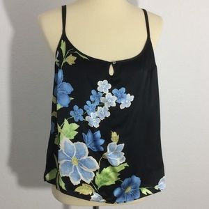 Tommy Bahama Silk Floral Print Camisole Scoop Neck